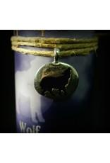 Animal Spirit Guide Pewter Pendant Candle - Wolf