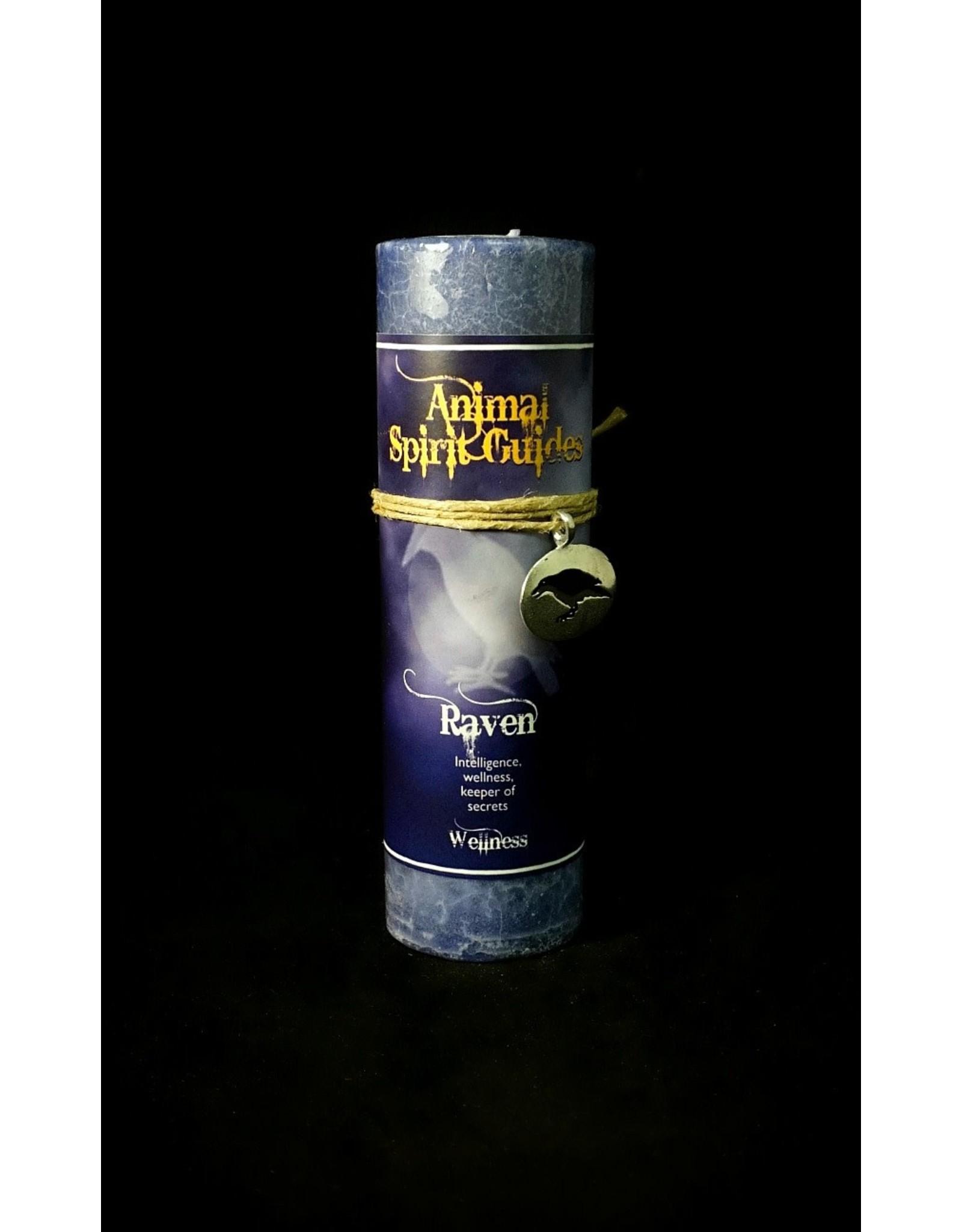 Animal Spirit Guide Pewter Pendant Candle - Raven