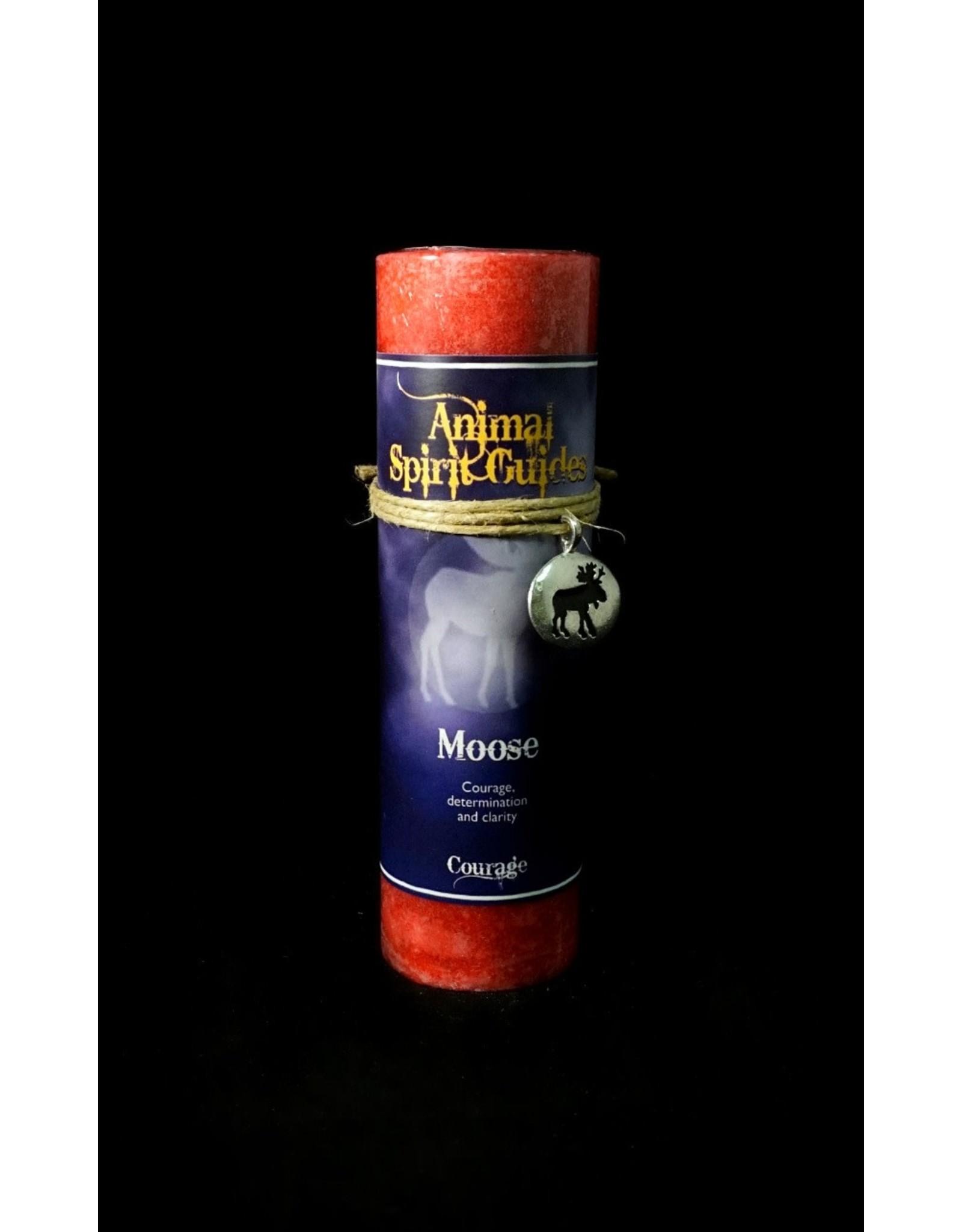 Animal Spirit Guide Pewter Pendant Candle - Moose