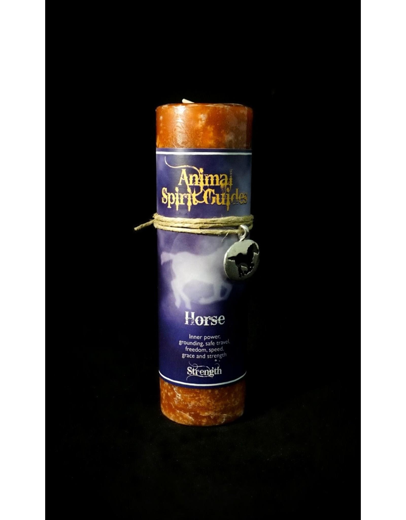 Animal Spirit Guide Pewter Pendant Candle - Horse