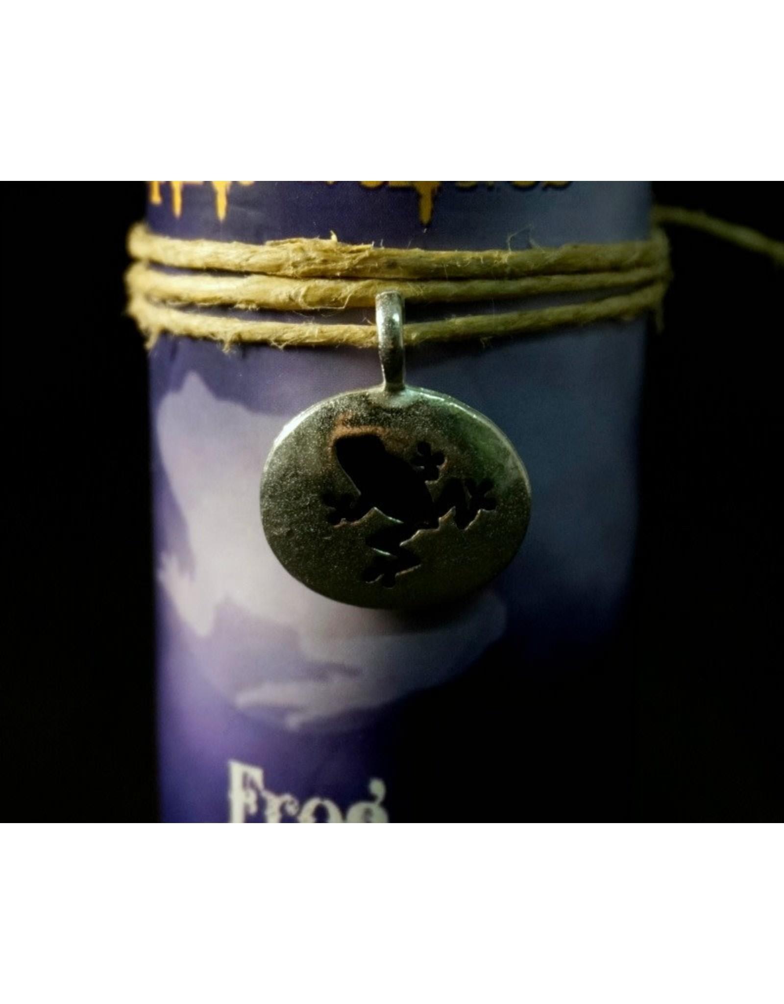 Animal Spirit Guide Pewter Pendant Candle - Frog