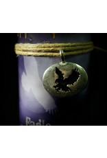 Animal Spirit Guide Pewter Pendant Candle - Eagle