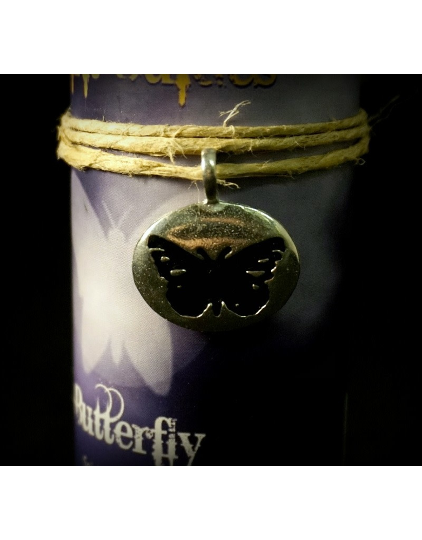 Animal Spirit Guide Pewter Pendant Candle - Butterfly