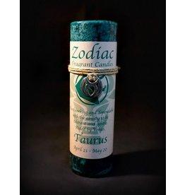 Zodiac Pewter Pendant Candle - Taurus