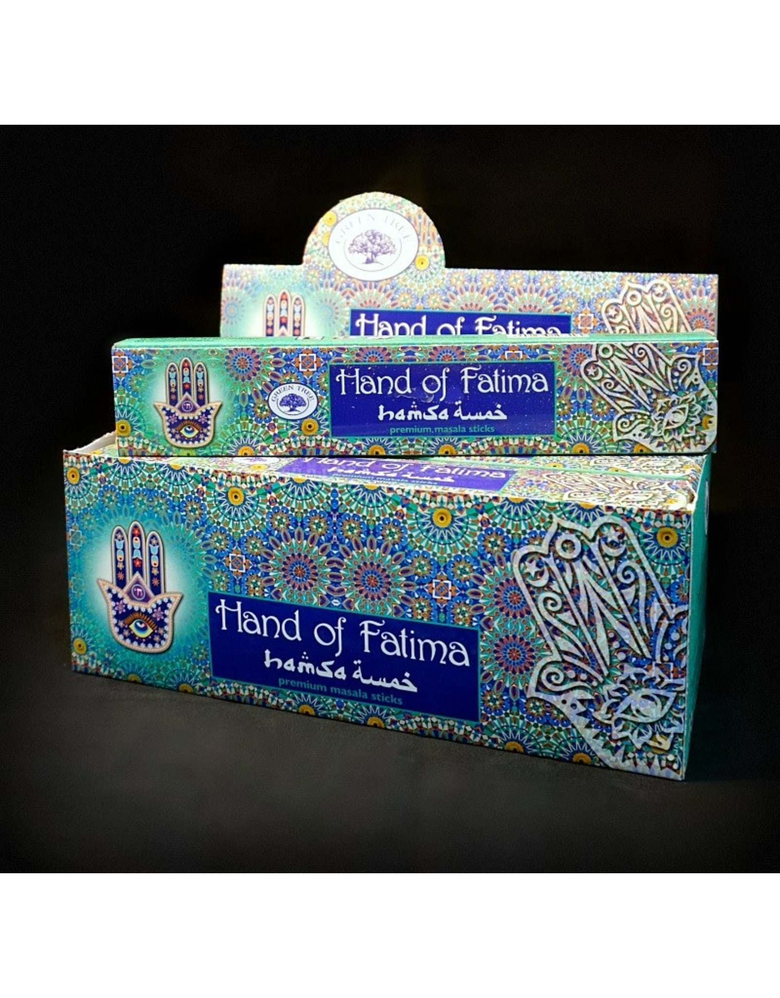 Green Tree Incense 15g - Hand of Fatima