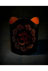 Om Cutout Candle Holder