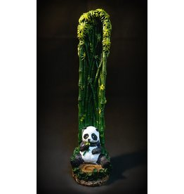 """Bamboo Panda Standing Incense Burner 10.5"""""""