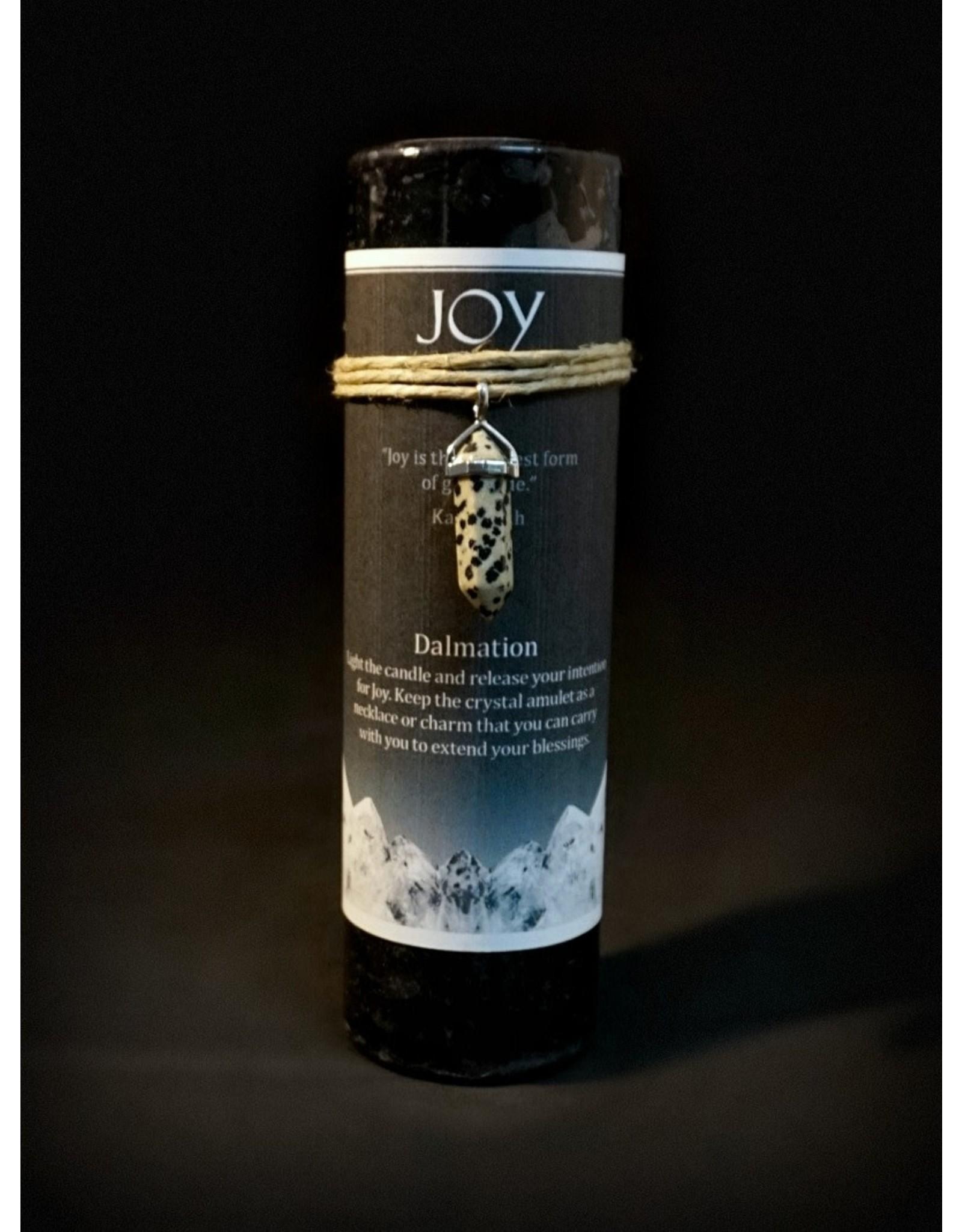 Crystal Energy Pendant Candle – Dalmation Jasper Joy