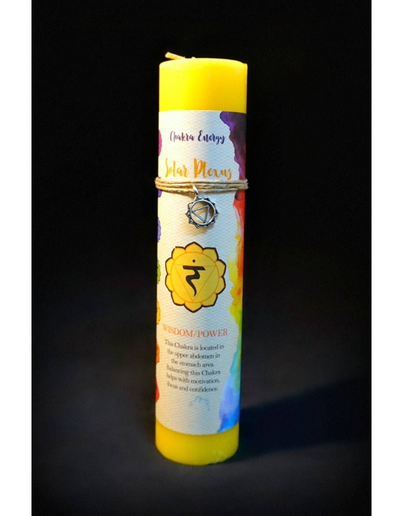 Chakra Pillars Candle - Solar Plexus