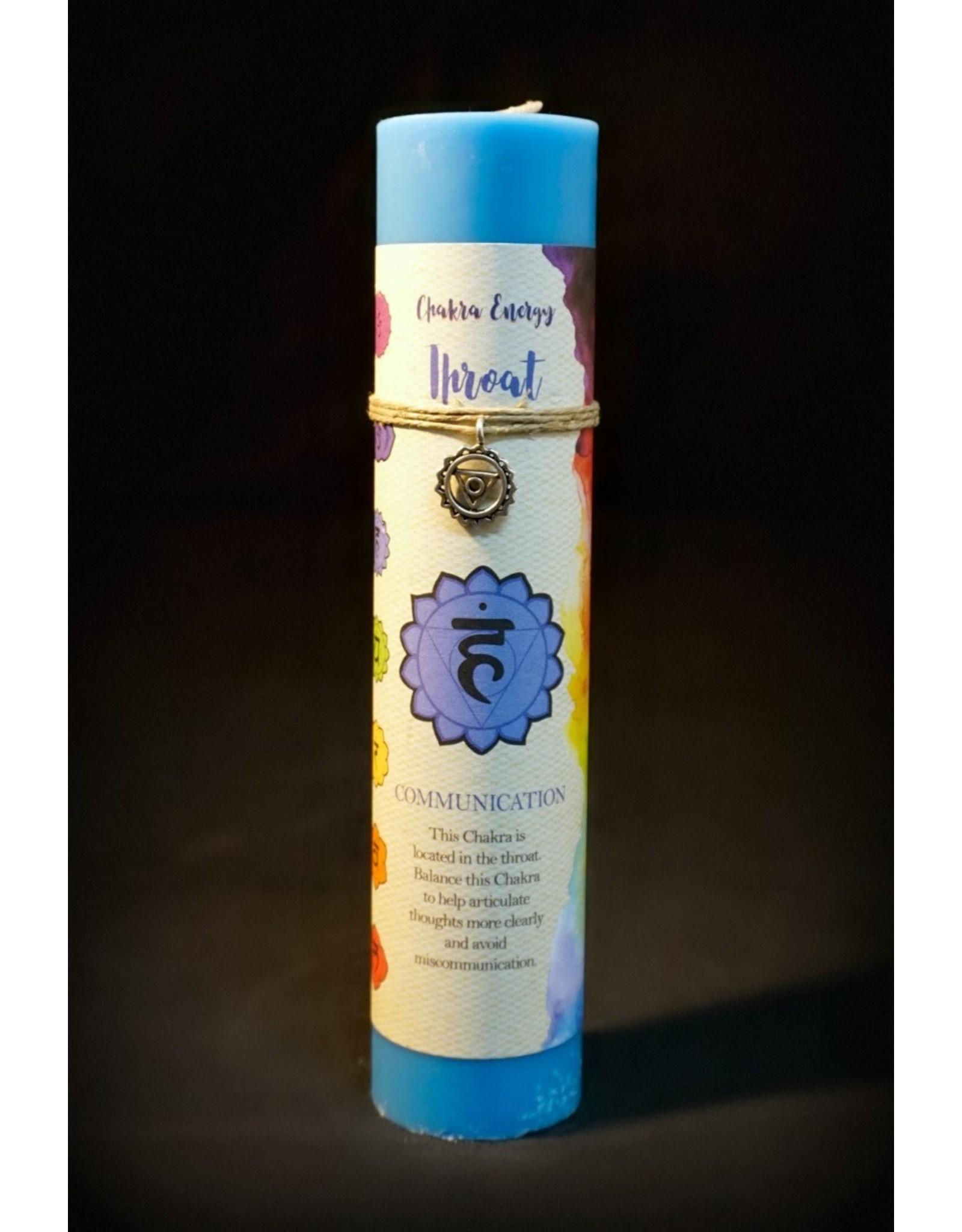 Chakra Pillars Candle - Throat