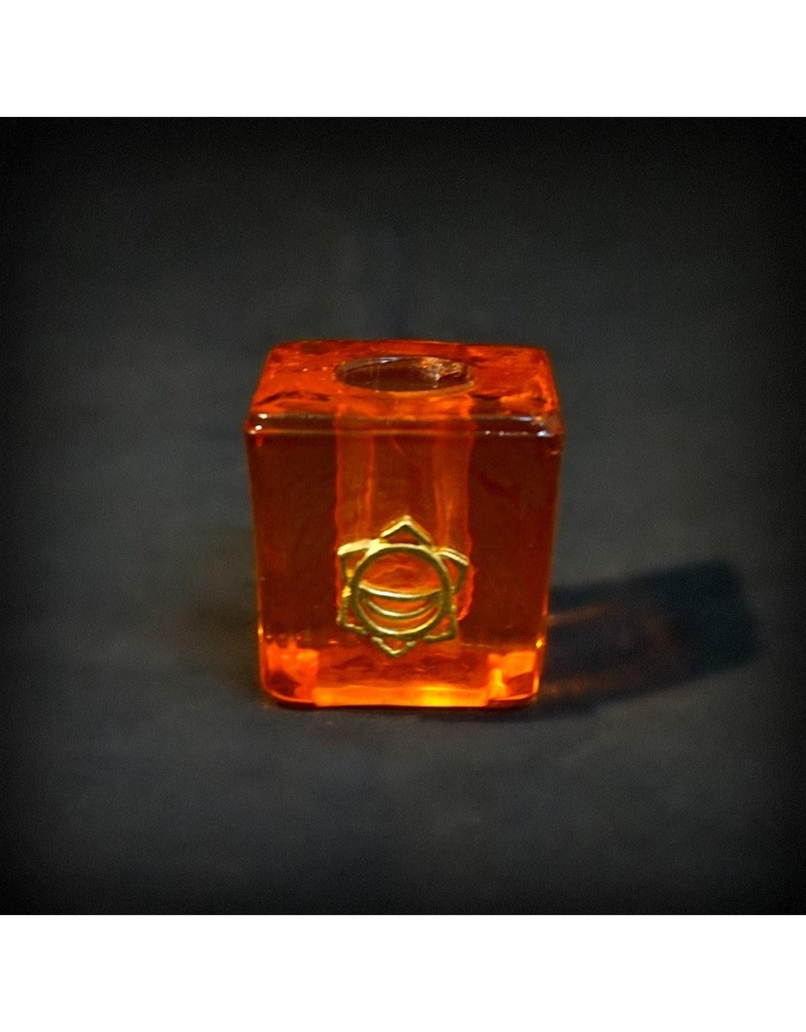 Chakra Mini Glass Candle Holder - Sacral