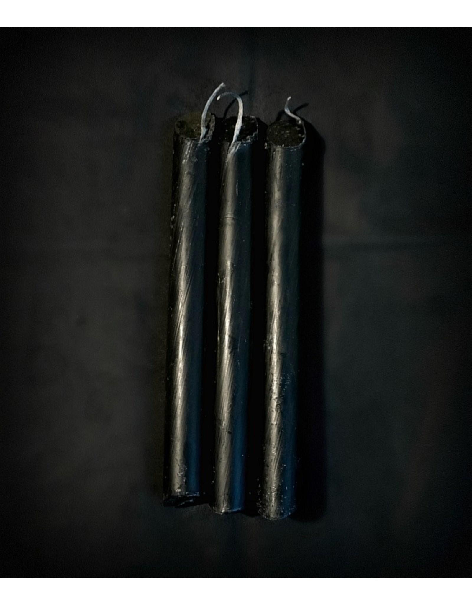 Candlestock Black Drip Candle