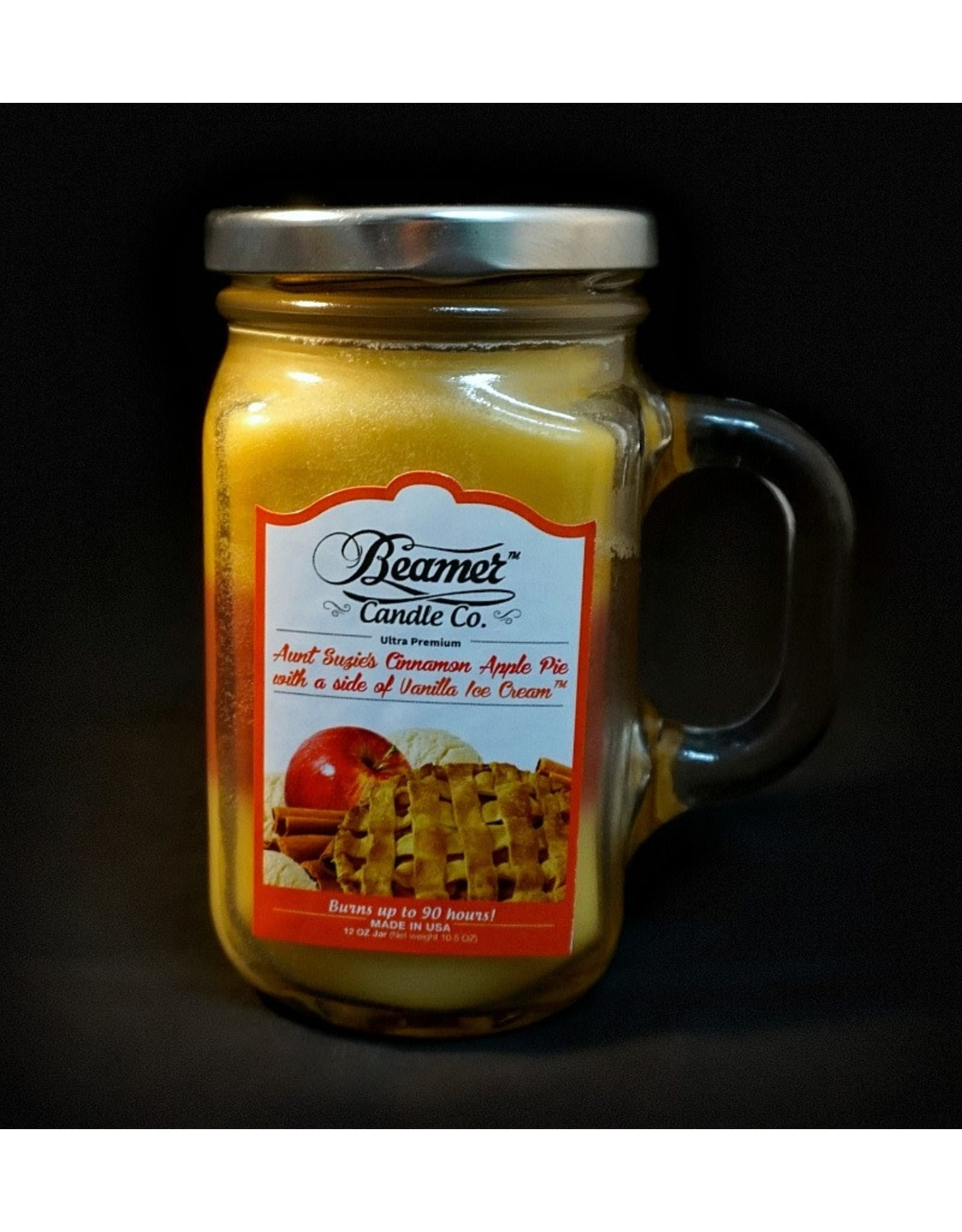 Beamer Candle - Aunt Suzie's Cinnamon Apple Pie with A Side of Vanilla Ice Cream