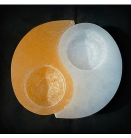 Orange Selenite Tea Light Holder