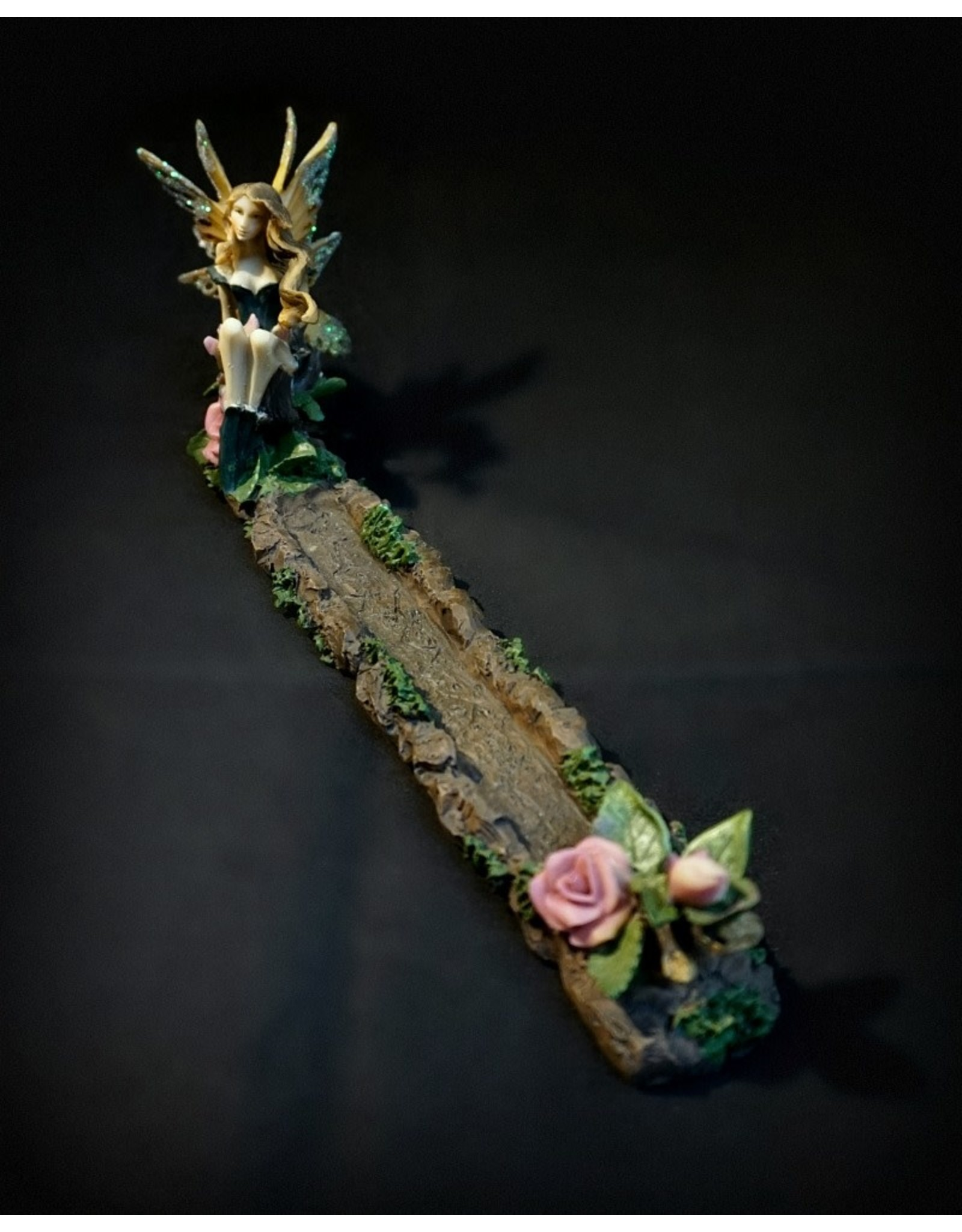 Dark Fairy and Flowers Incense Burner