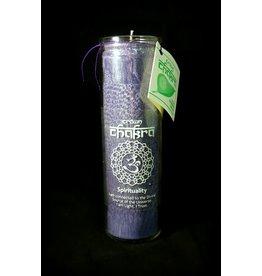 Chakra Candle Glass Jar - Crown