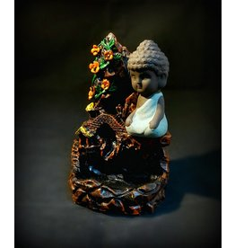 Backflow Incense Burner - Moutain with Buddha