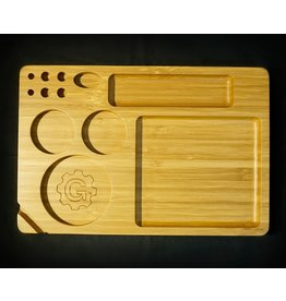 Grindhouse Rolling Tray w/ Storage - 6x9 Bamboo