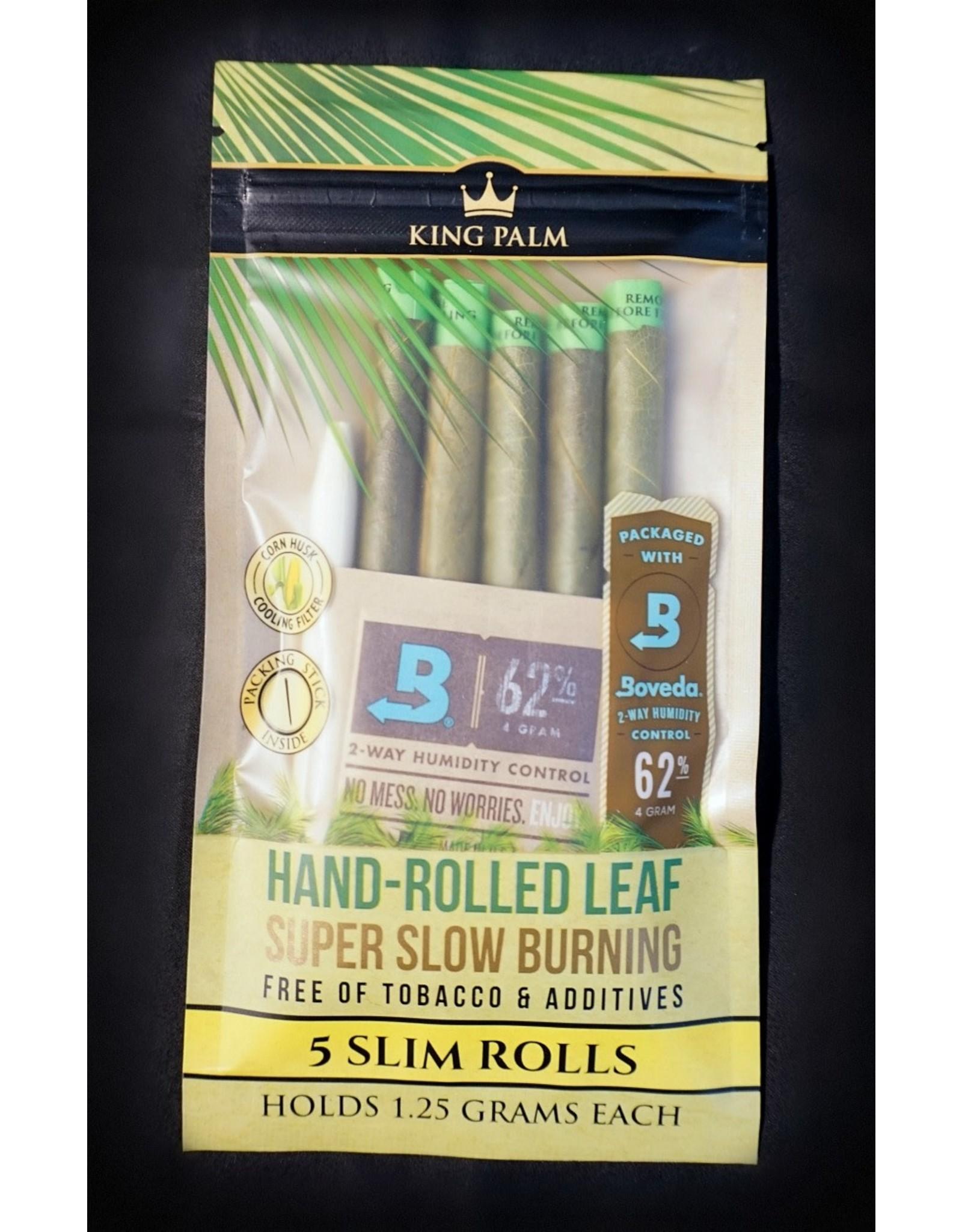 King Palm King Palm Pre-Roll Wraps Pouch w/ Boveda - 5pk Slim