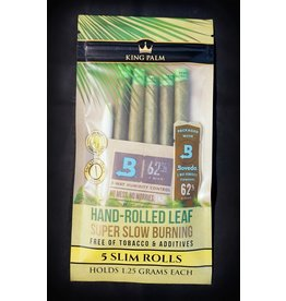 King Palm King Palm Pre-Roll Wraps Pouch w/ Boveda - 5pk Slim