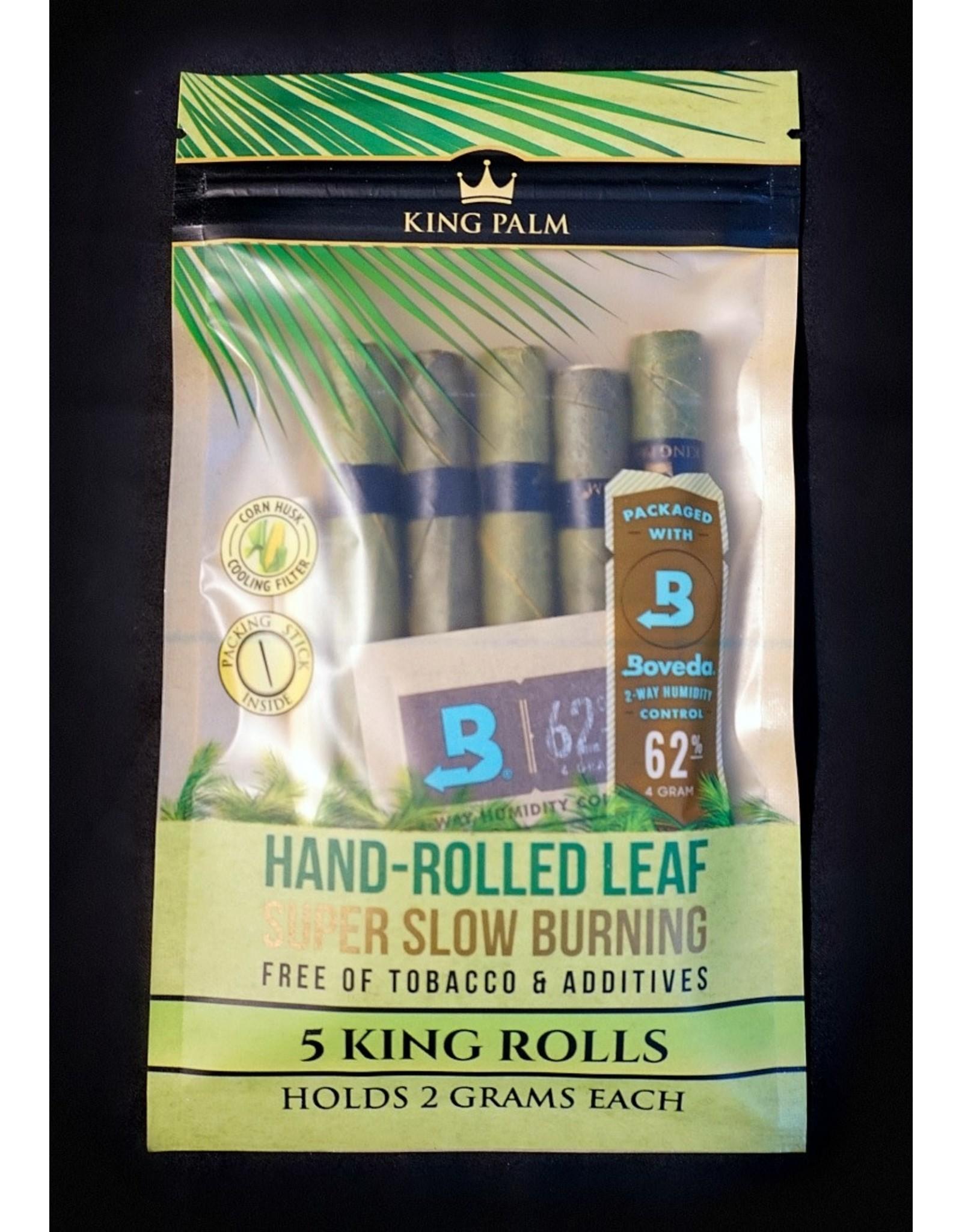 King Palm King Palm Pre-Roll Wraps Pouch w/ Boveda – 5pk KS