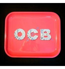OCB Pink Diamond Rolling Tray - Large
