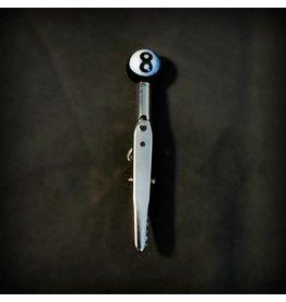 Small Glass Memo Clip - 8Ball