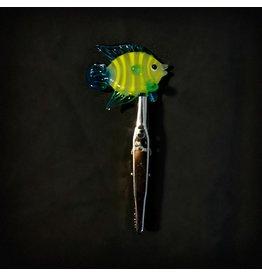 Small Glass Memo Clip - Angel Fish