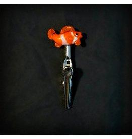 Small Glass Memo Clip - Clown Fish