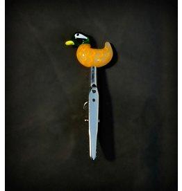 Small Glass Memo Clip - Duck