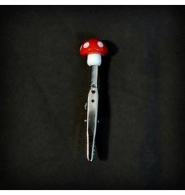 Small Glass Memo Clip - Mushroom