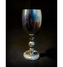 """6"""" Stainless Steel Four Elements Chalice"""