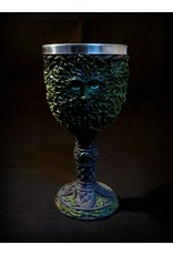 "7"" Carved Green Treeman Chalice"