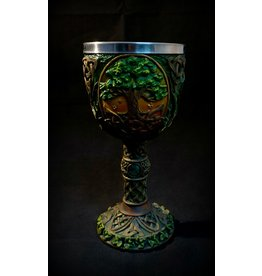 """7"""" Carved Tree of Life Chalice"""