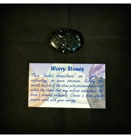 Worry Stone - Snowflake Obsidian