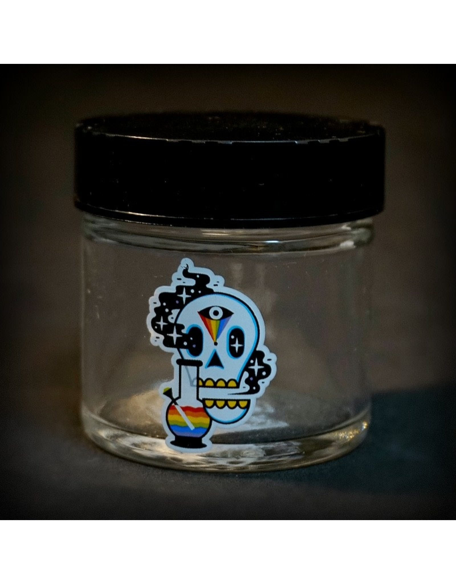 420 Science 420 Science Jars  XSmall Cosmic Skull Screw Top