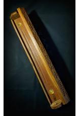 """Wood Coffin Incense Burner 18"""""""