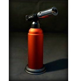 """EverTech Cigar Lighter Refillable Butane Torch - Red 6"""""""