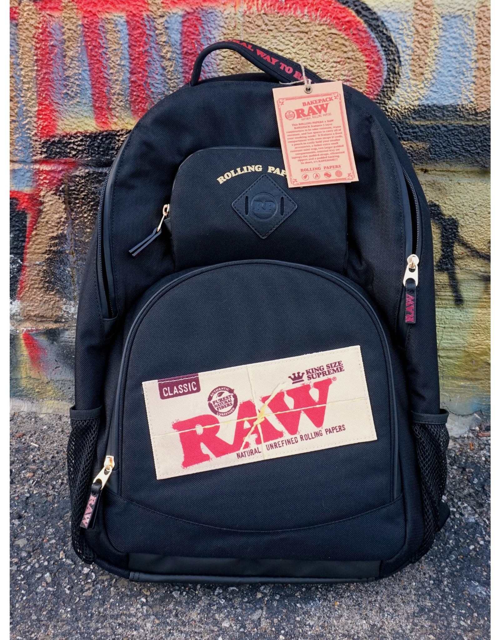 Raw Raw Smell Proof Backpack (BakePack) - Black