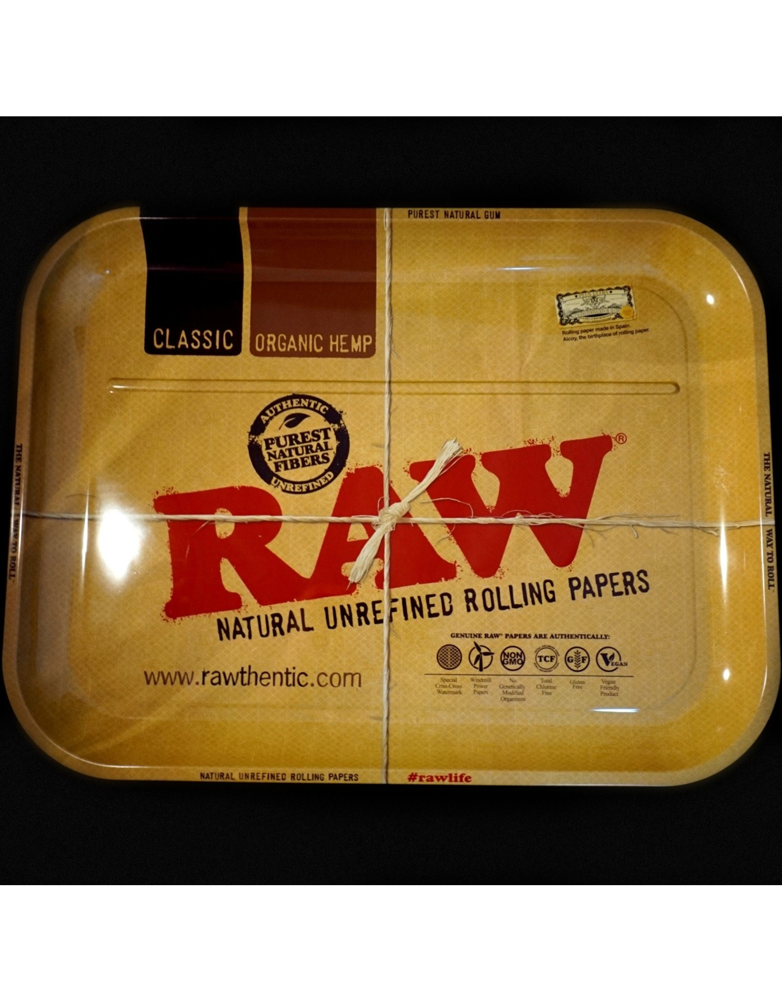 Raw Raw Aluminum High Sided Rolling Tray - XXL
