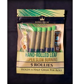 King Palm King Palm Pre-Roll Wraps Pouch w/ Boveda - 5pk Rollies