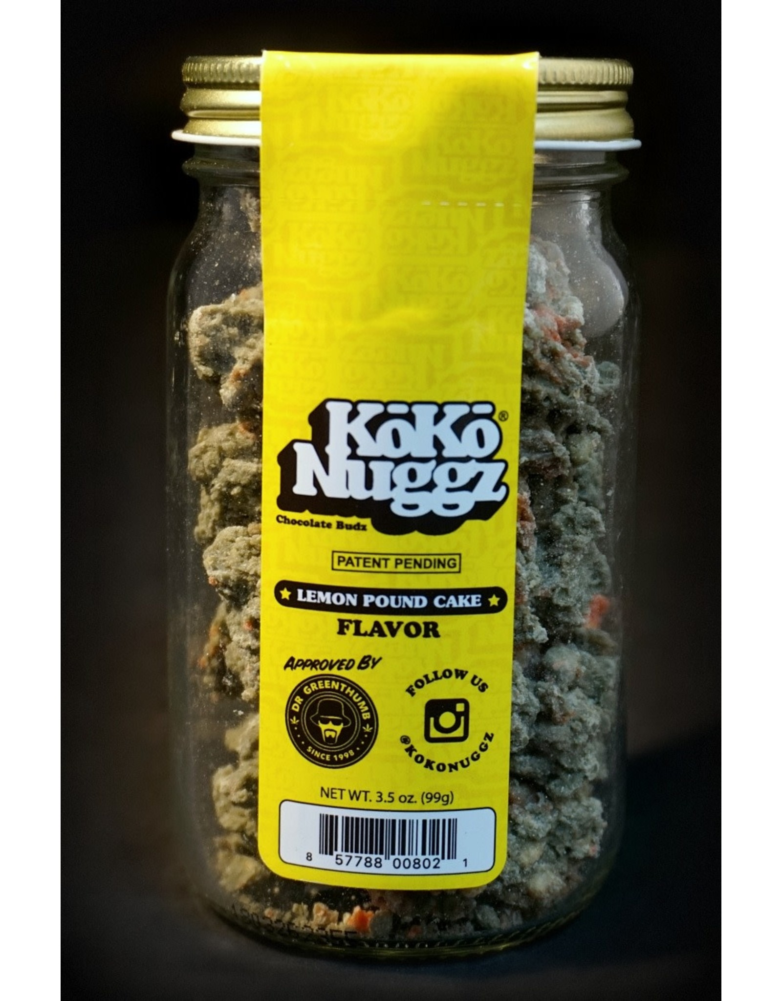Koko Nuggz Koko Nuggz 3.5oz Jar - Lemon Pound Cake