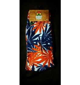 Smokey Socks - Cannabis Camo Red White Blue