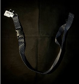 Black and White Polka Dot Lanyard