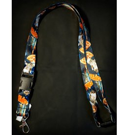 Cats in Pizza Space Lanyard