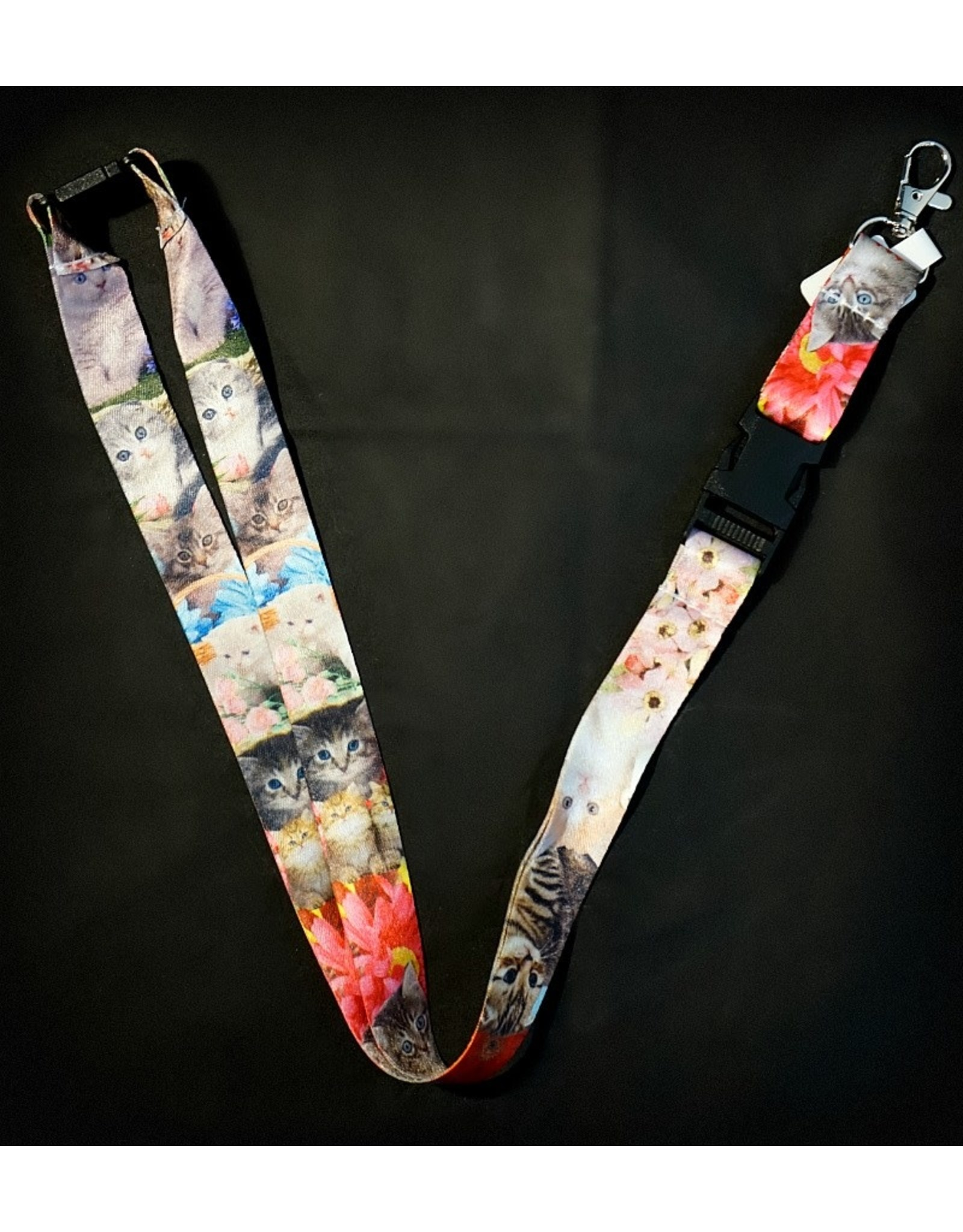 Cats Flower Lanyard