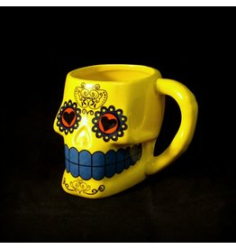 Sugar Skull Mug - Yellow