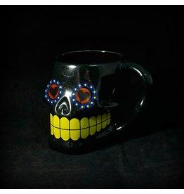 Sugar Skull Mug - Black