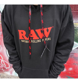 Raw Raw Pullover Hoodie with Poker Strings
