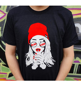 Raw Raw Unisex Shirt Girl Smoking Art